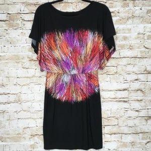 Maggy London Dresses - Maggy London  Black Tie Die Print Cap Sleeve Dress